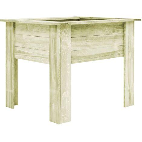 Jardinera con patas madera aserrada impregnada 100x80x80 cm