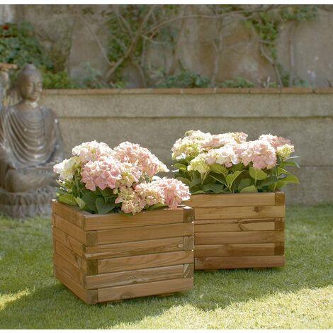 Jardinera cuadrada 40x50x50cm madera certificada FSC Nortene SPIRO