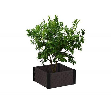 Jardinera cuadrada. Medidas 50 x 50 cm. y 25 cm. de altura.