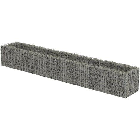 Jardinera de gaviones de acero 360x50x50 cm