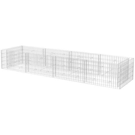 Jardinera de gaviones de acero 360x90x50 cm