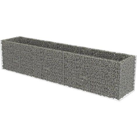 Jardinera de gaviones de acero 450x90x100 cm