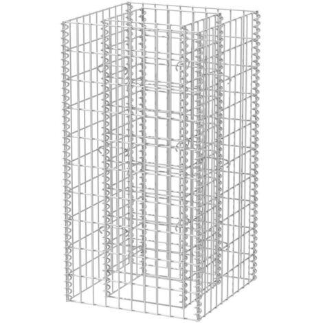Jardinera de gaviones de acero 50x50x100 cm