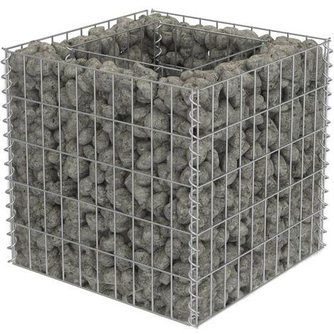 Jardinera de gaviones de acero 50x50x50 cm