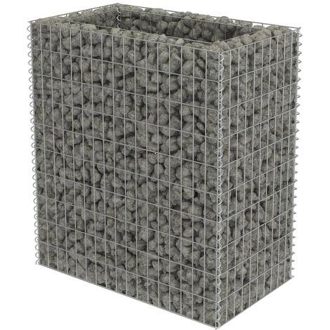 Jardinera de gaviones de acero 90x50x100 cm
