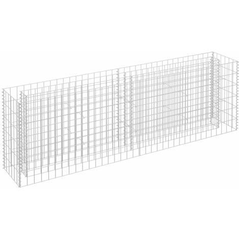 Jardinera de gaviones de acero galvanizado 180x30x60 cm