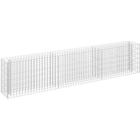 Jardinera de gaviones de acero galvanizado 270x30x60 cm