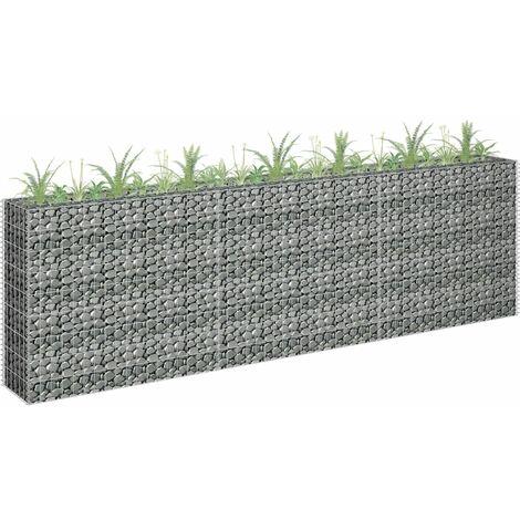 Jardinera de gaviones de acero galvanizado 270x30x90 cm