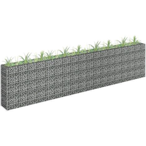 Jardinera de gaviones de acero galvanizado 360x30x90 cm