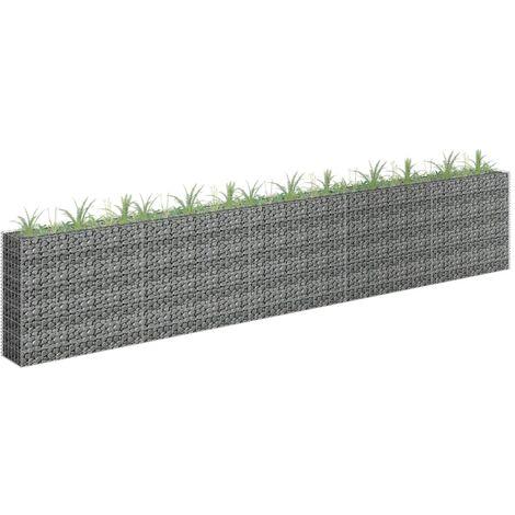 Jardinera de gaviones de acero galvanizado 450x30x90 cm