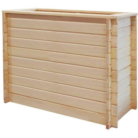 Jardinera de jardín de madera de pino 19 mm 100x50x80 cm