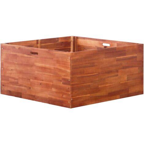 Jardinera de madera de acacia 100x100x50 cm