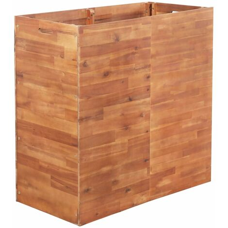 Jardinera de madera de acacia 100x50x100 cm