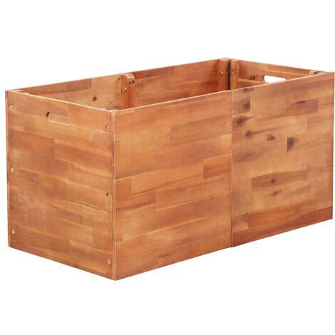 Jardinera de madera de acacia 100x50x50 cm