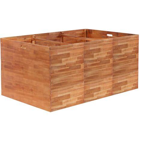 Jardinera de madera de acacia 150x100x100 cm