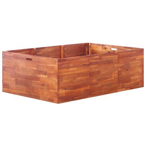 Jardinera de madera de acacia 150x100x50 cm