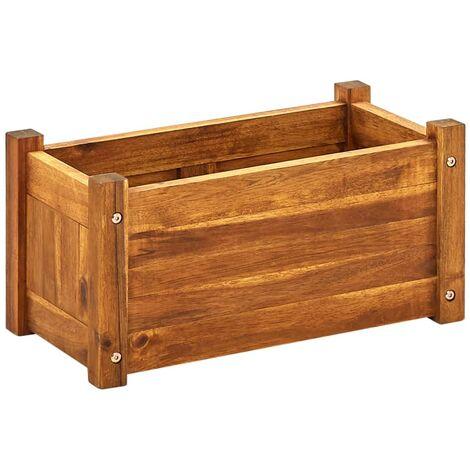 Jardinera de madera de acacia 50x25x25 cm