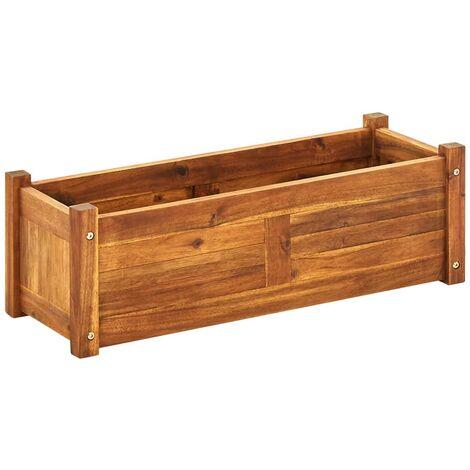 Jardinera de madera de acacia 76x27,6x25 cm