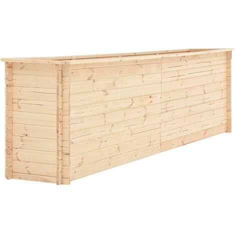 Jardinera de madera de pino 19 mm 300x50x80,5 cm