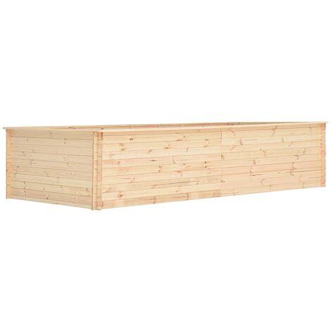 Jardinera de madera de pino 19 mm 450x150x80,5 cm