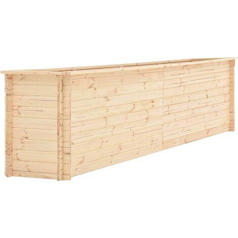 Jardinera de madera de pino 19 mm 450x50x80,5 cm