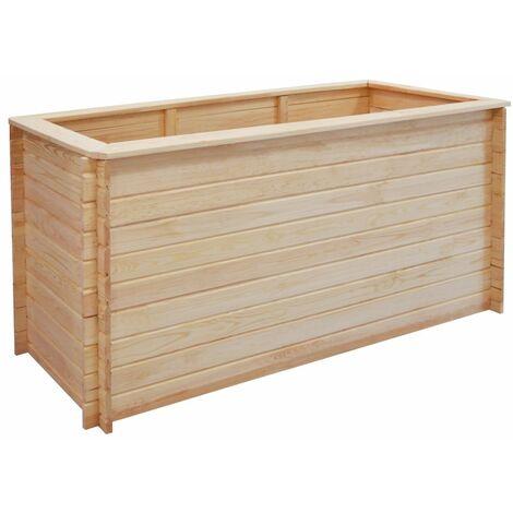 Jardinera de madera de pino FSC 19 mm 150x50x80 cm