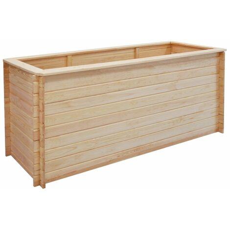 Jardinera de madera de pino FSC 19 mm 200x50x80 cm