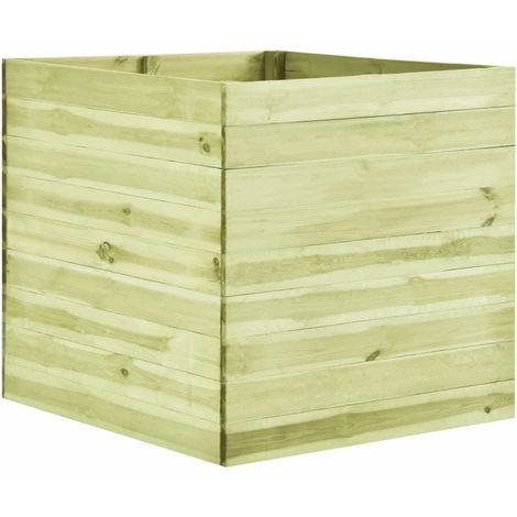 Jardinera de madera de pino impregnada 100x100x97 cm