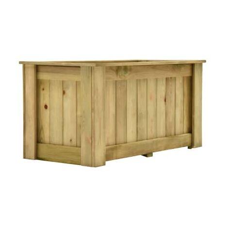 Jardinera de madera de pino impregnada 100x50x50 cm