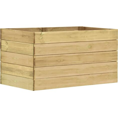 Jardinera de madera de pino impregnada 100x50x54 cm