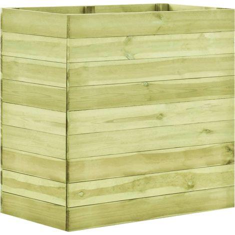 Jardinera de madera de pino impregnada 100x50x97 cm