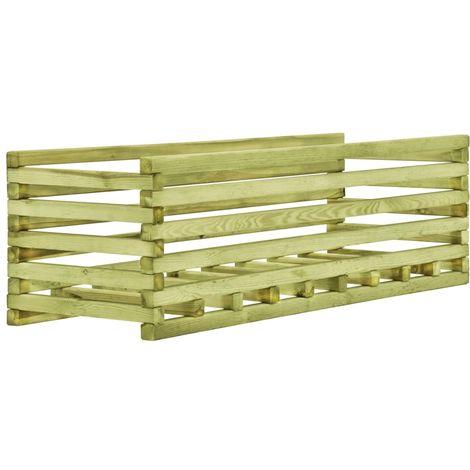 Jardinera de madera de pino impregnada 120x40x35 cm
