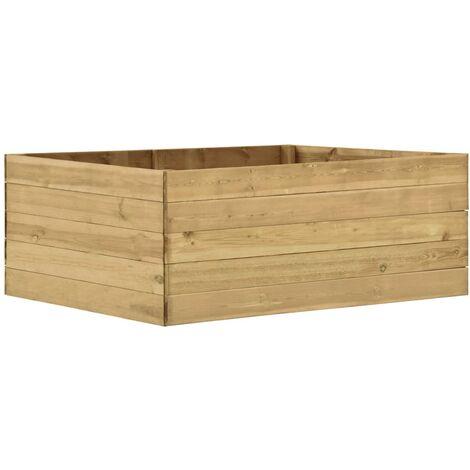 Jardinera de madera de pino impregnada 150x100x54 cm