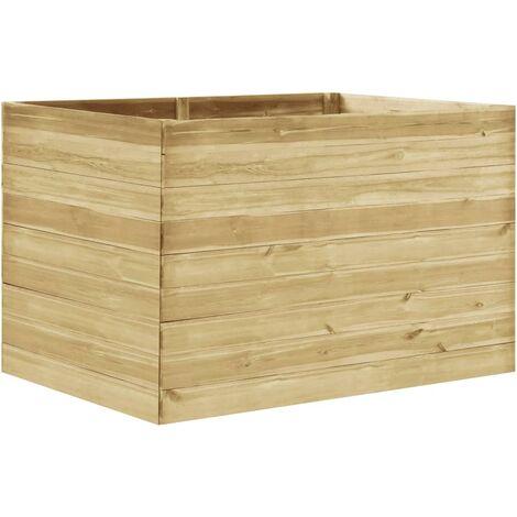 Jardinera de madera de pino impregnada 150x100x97 cm