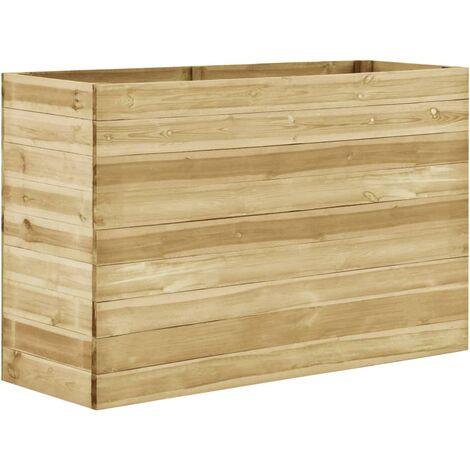 Jardinera de madera de pino impregnada 150x50x97 cm