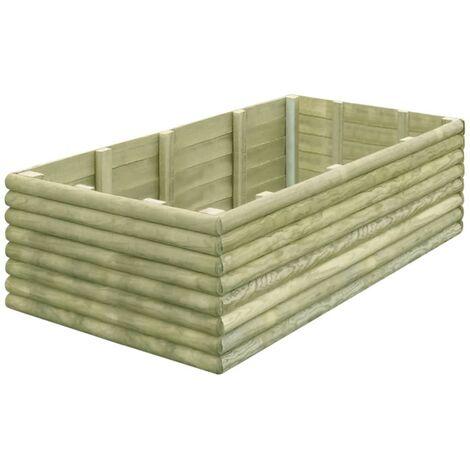 Jardinera de madera de pino impregnada 19 mm 150x106x48 cm