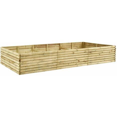 Jardinera de madera de pino impregnada 19 mm 300x150x48 cm