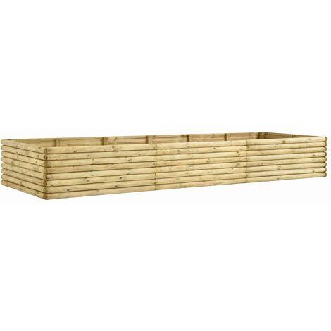 Jardinera de madera de pino impregnada 19 mm 300x50x48 cm