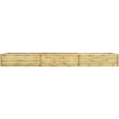 Jardinera de madera de pino impregnada 19 mm 450x100x48 cm