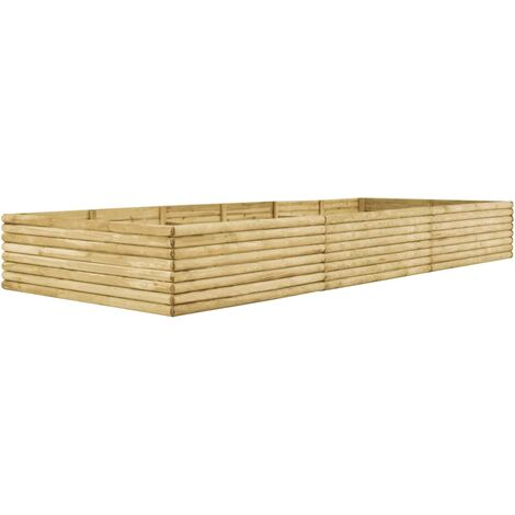 Jardinera de madera de pino impregnada 19 mm 450x150x48 cm