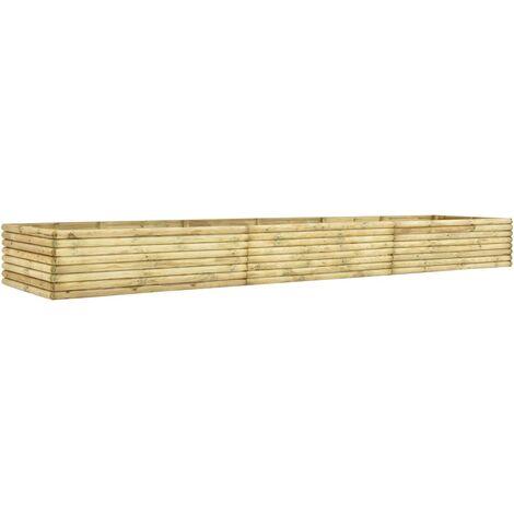 Jardinera de madera de pino impregnada 19 mm 450x50x48 cm