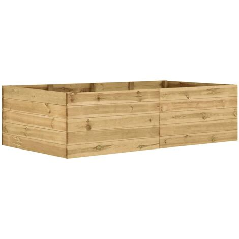 Jardinera de madera de pino impregnada 200x100x54 cm