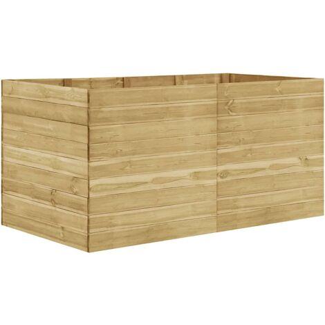 Jardinera de madera de pino impregnada 200x100x97 cm