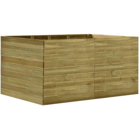 Jardinera de madera de pino impregnada 200x150x97 cm