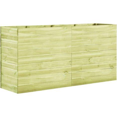 Jardinera de madera de pino impregnada 200x50x97 cm