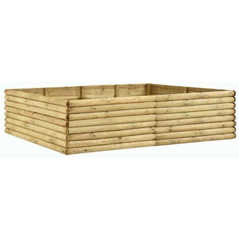 Jardinera de madera de pino impregnada 206x150x48 cm