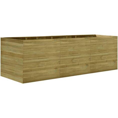 Jardinera de madera de pino impregnada 300x100x97 cm