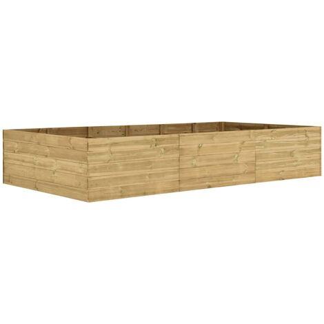 Jardinera de madera de pino impregnada 300x150x54 cm