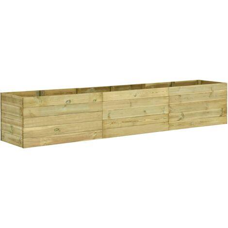 Jardinera de madera de pino impregnada 300x50x54 cm