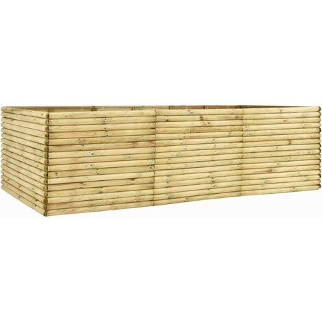 Jardinera de madera de pino impregnada 300x50x96 cm